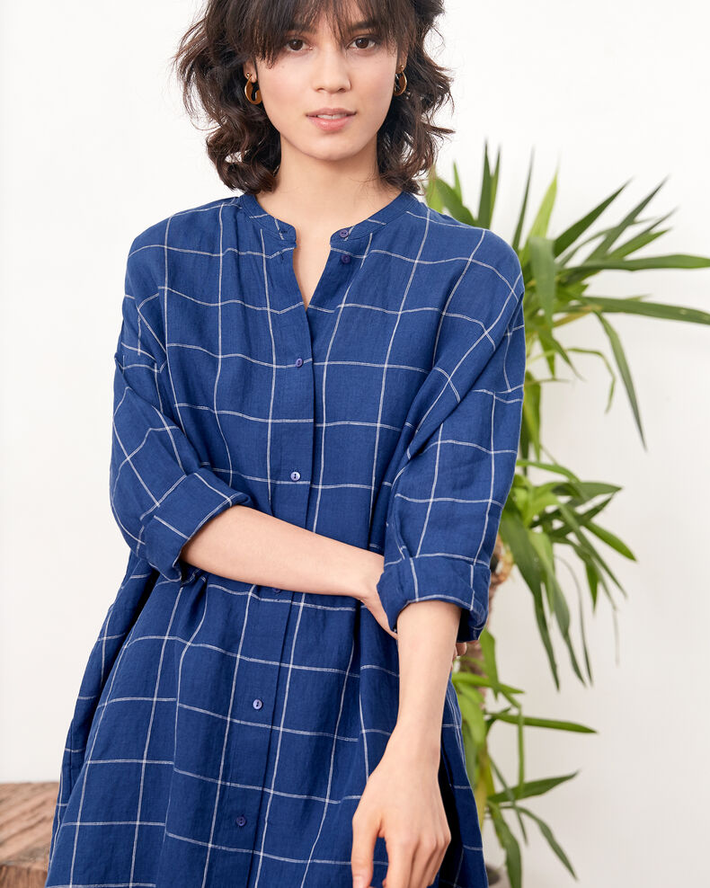 Robe ample en lin Indigo Footing