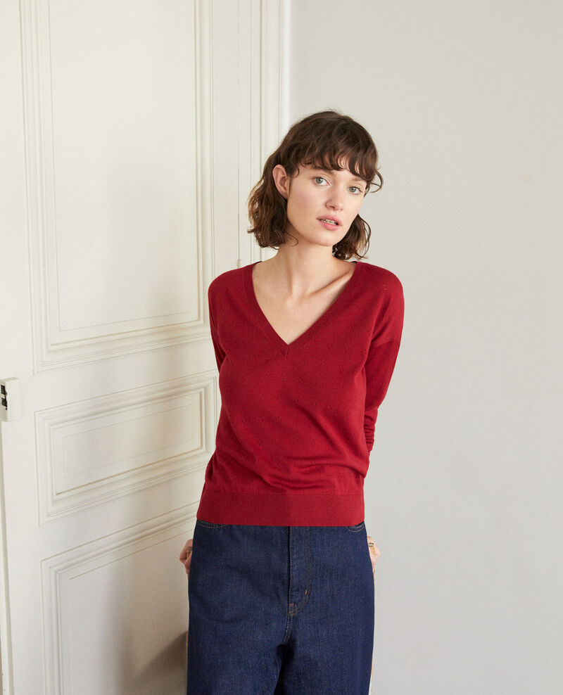 Pull en laine mérinos RIO RED