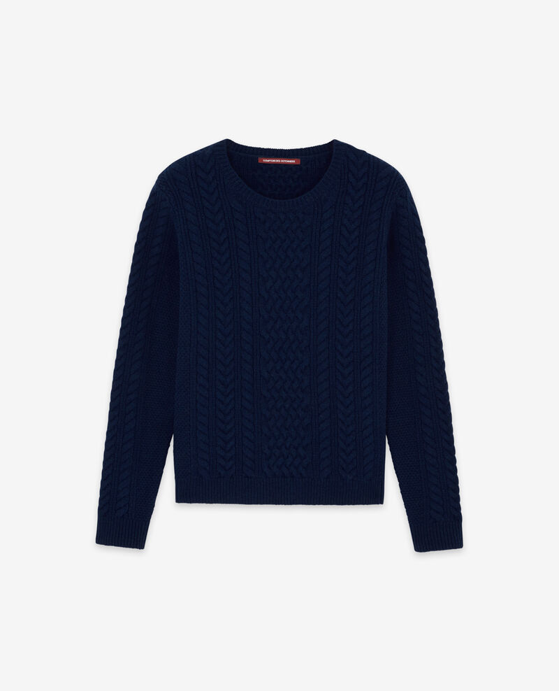 Pull torsadé en 100% laine Light navy Dodger