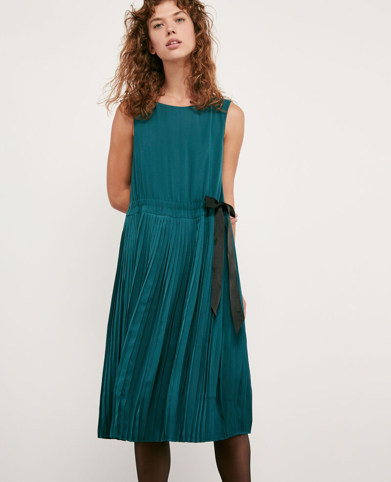 Robe avec partie plissée Light deep green Dosoleil