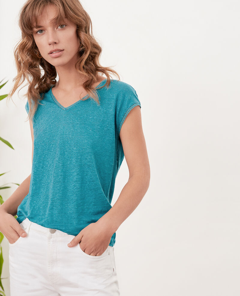 T-Shirt en lin PACIFIC GREEN