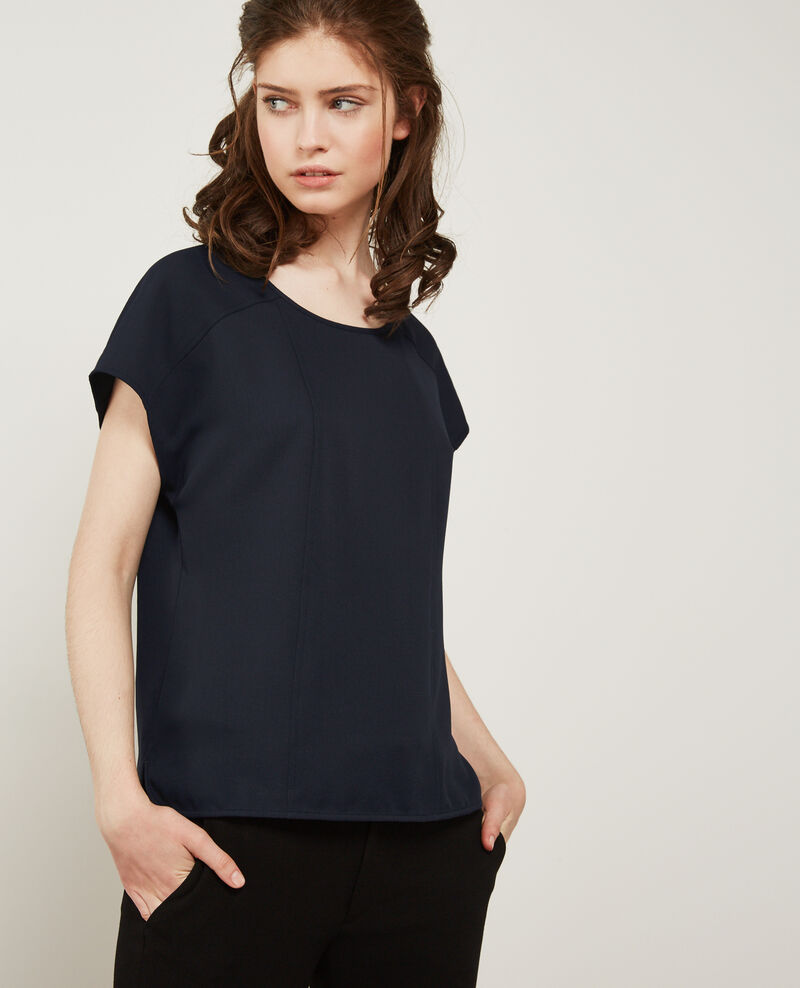 Top en crêpe NAVY