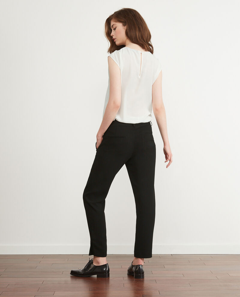 Pantalon office fluide Noir Daniela