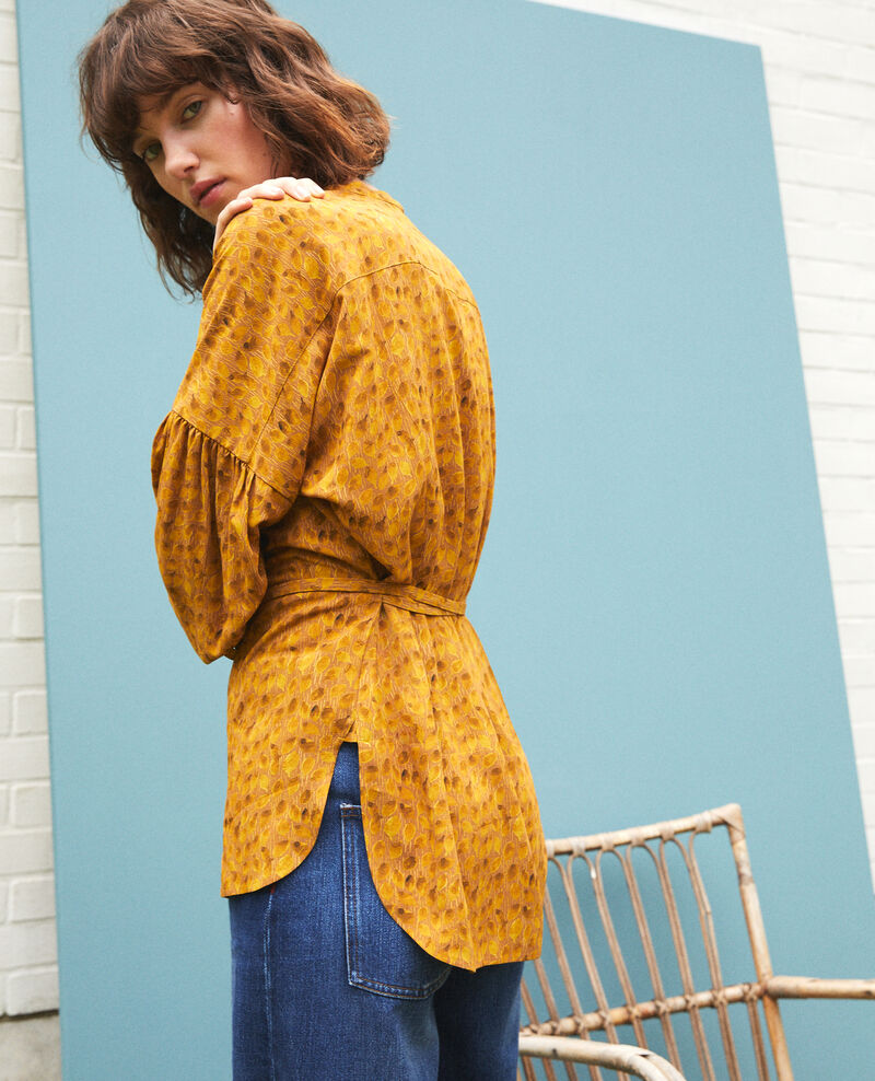 Blouse coupe ample Ld golden spice Garuya