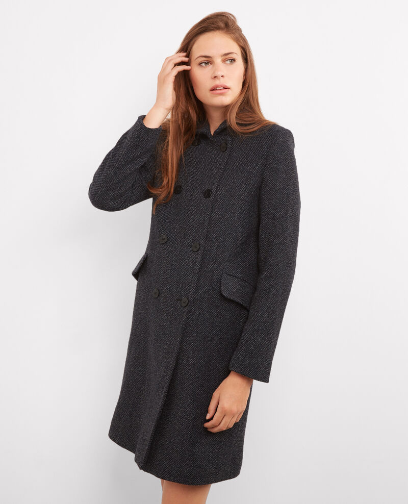 Manteau en tweed Tweed caviar Bacoat