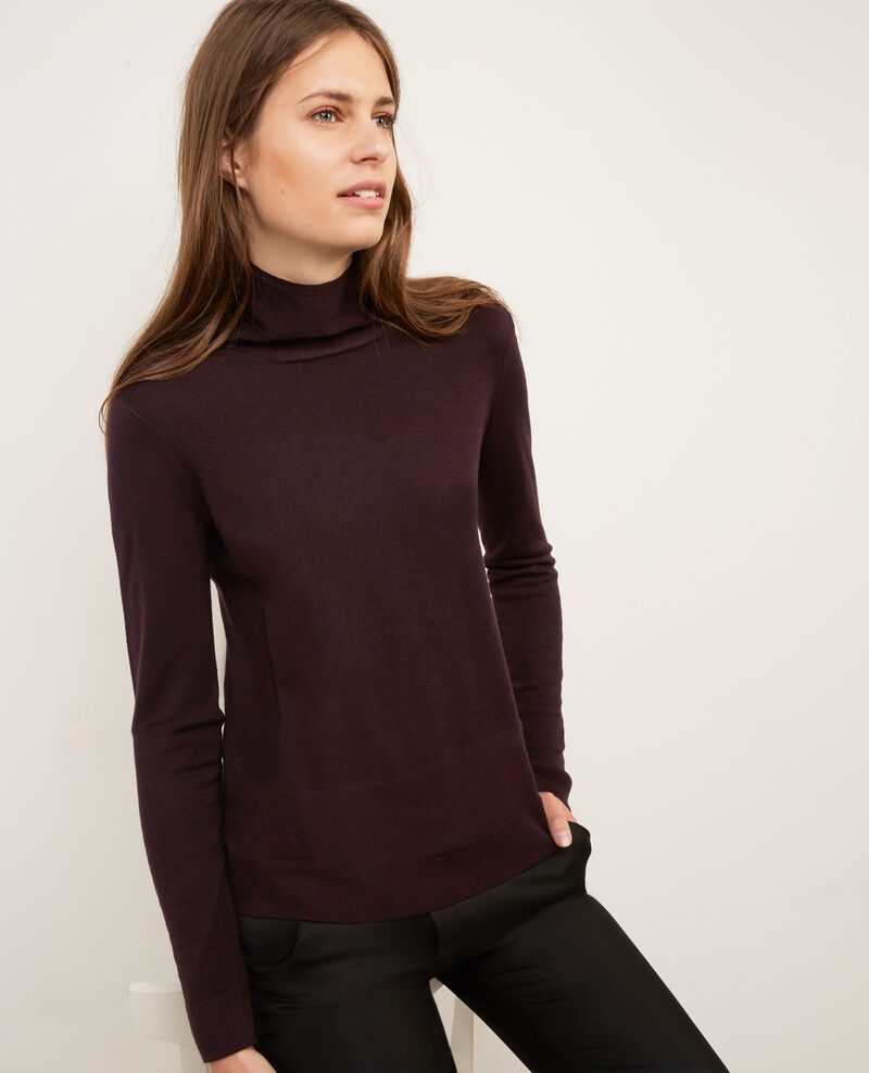 Pull col cheminée avec laine Maroon Beyonsse