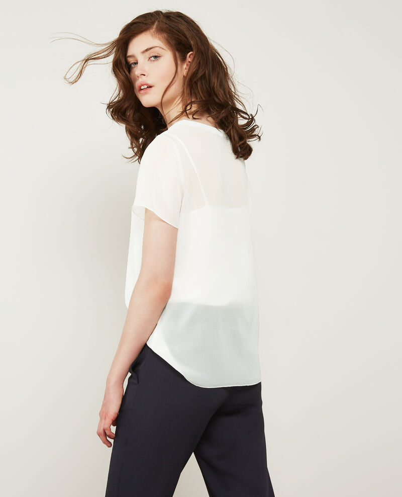 T-shirt en voile de soie Off white Dartiste