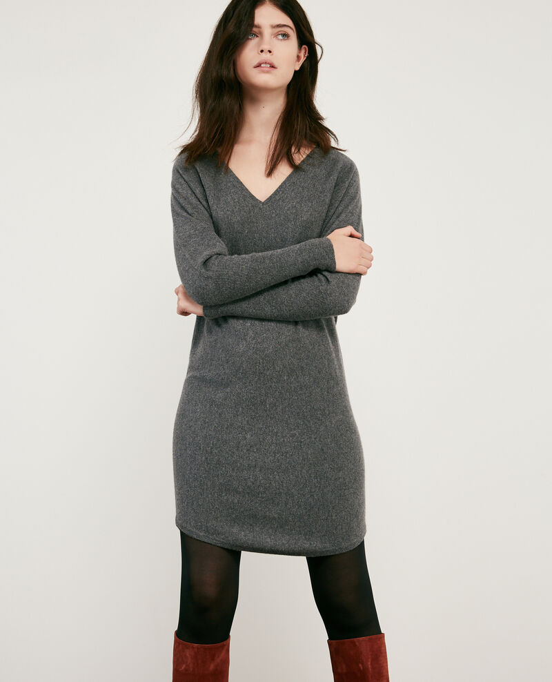 Robe en 100% cachemire Dark heather grey Duglamour