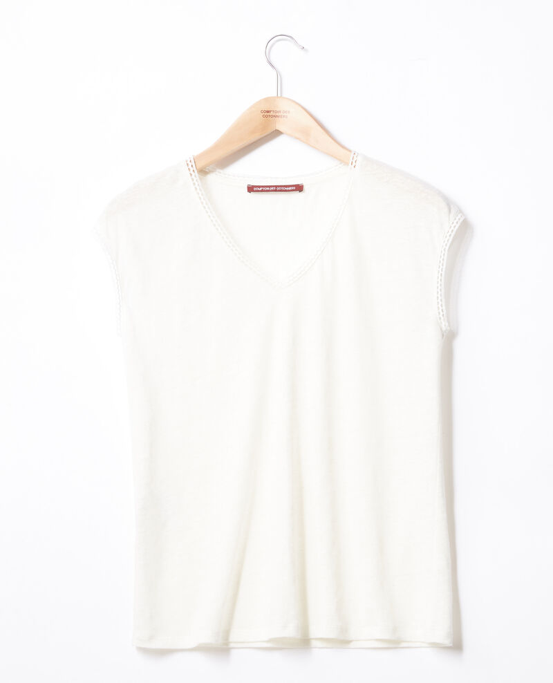 T-Shirt en lin OFF WHITE