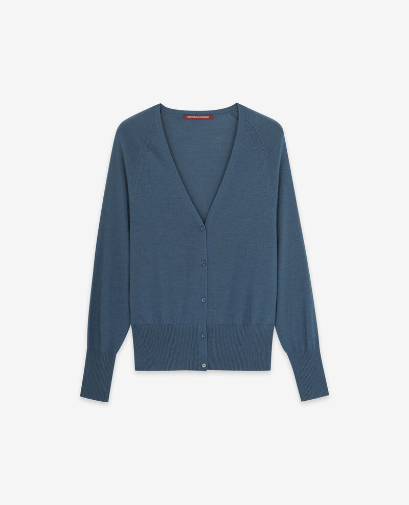 Cardigan en 100% mérinos Denim Doubt