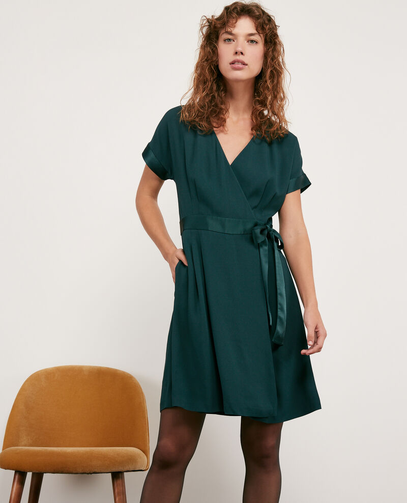 Robe cache-cœur Deep green Dannecha