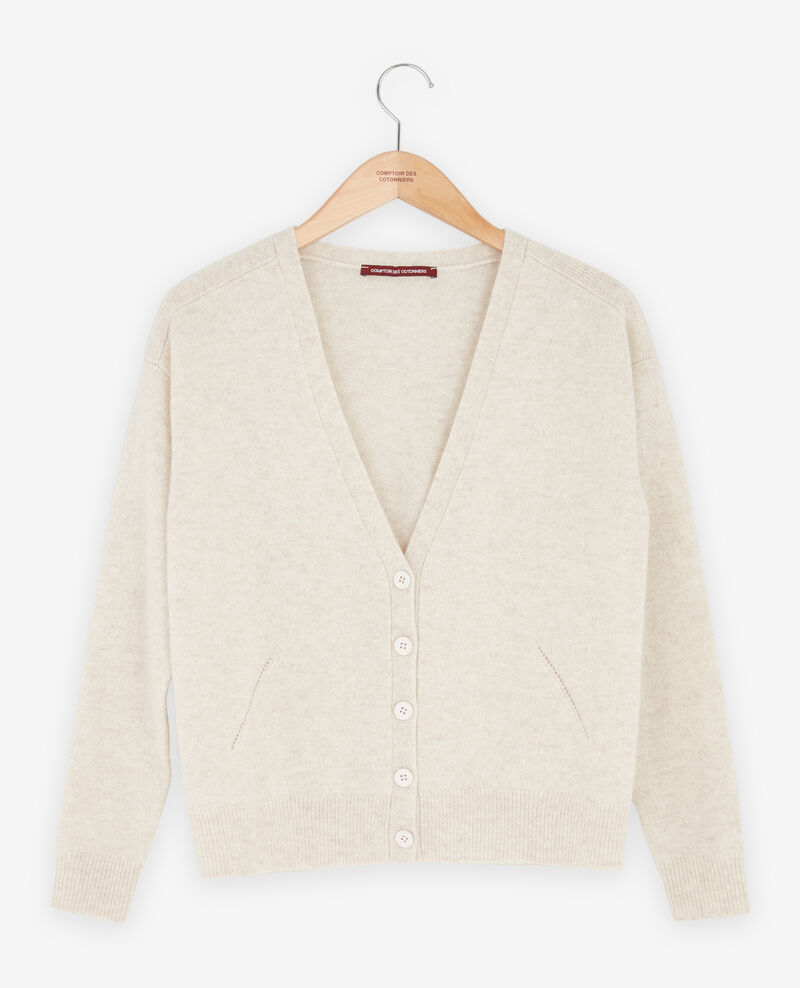 Cardigan en cachemire Heather chalk Fremir