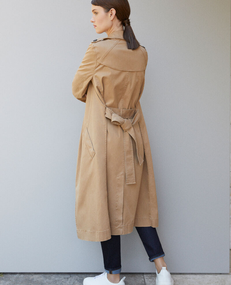 Trench long fluide Chamois rose 9betina