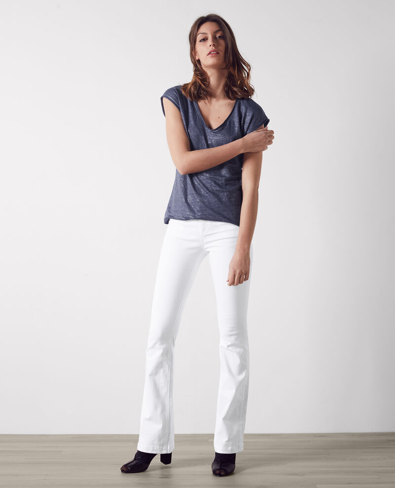 "Jeans flare taille haute ""Folie douce"" Off white Capetown"