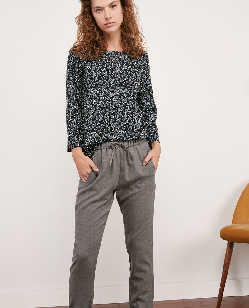 Pantalon en laine Light grey Dalray