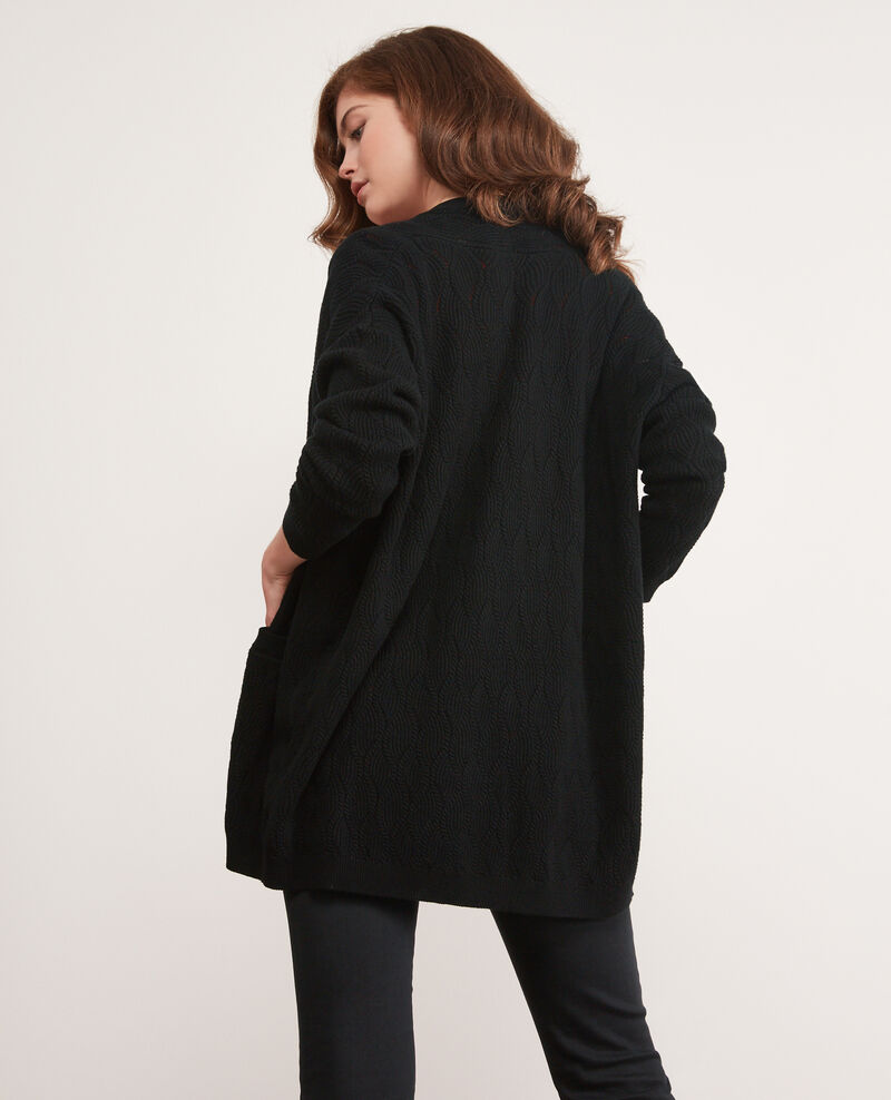 Cardigan long Noir Doatigan