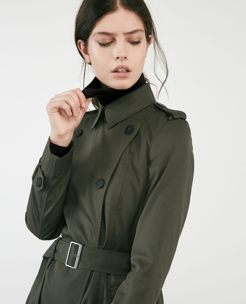 Trench iconique Black olive Cadeau
