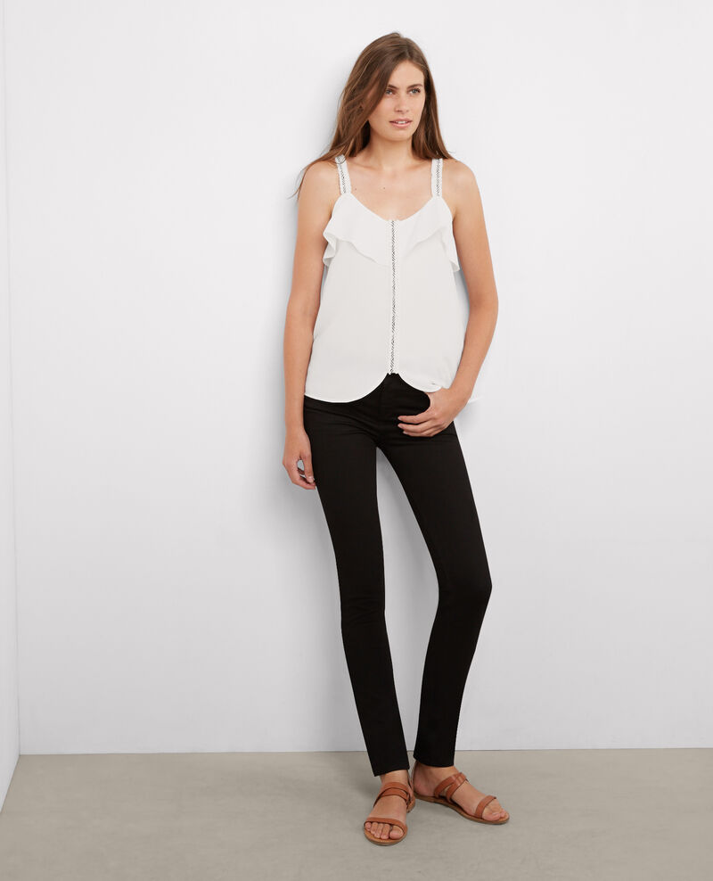 Top brodé Off white Agapanthe