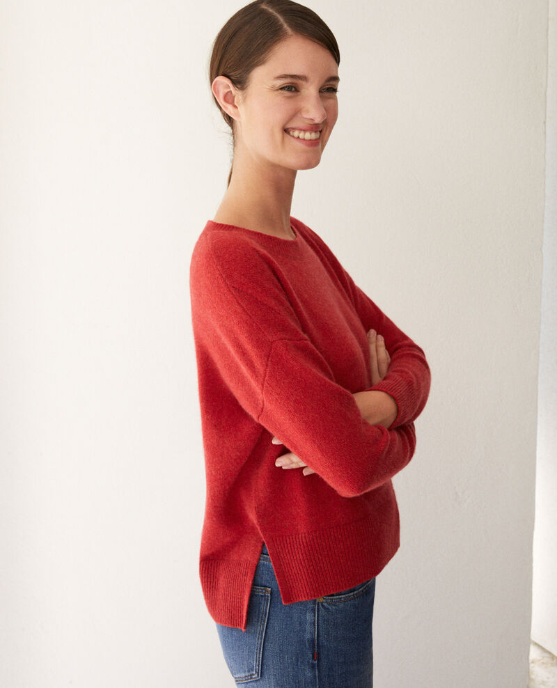 Pull en cachemire POMPEIAN RED