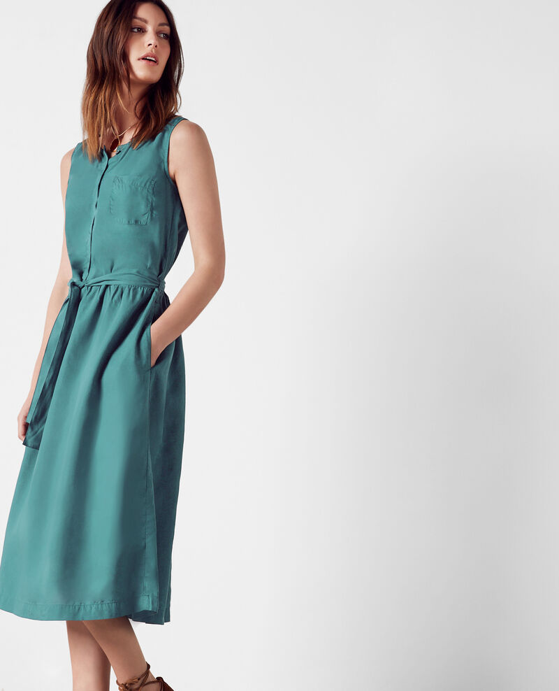 Robe en tencel Jungle green Charles