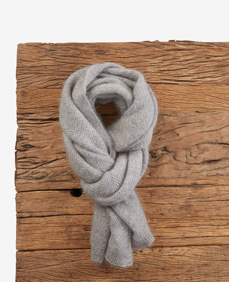 Echarpe avec mohair Light grey Djalie