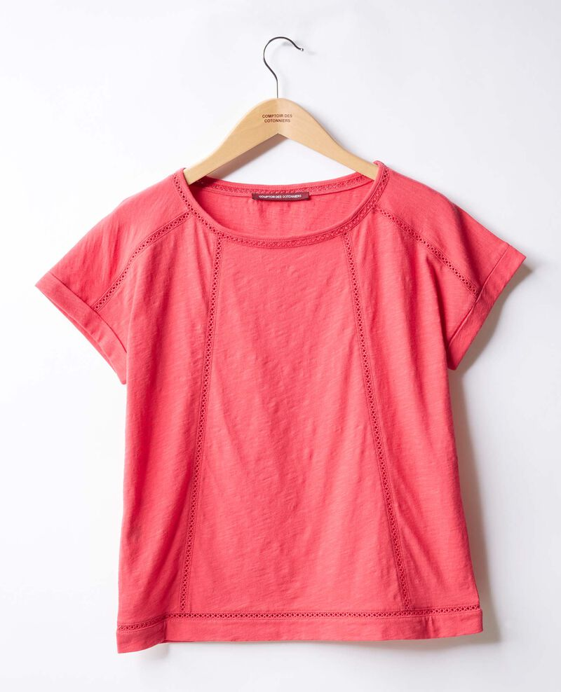 T-shirt avec galons Ultra pink Fenouil