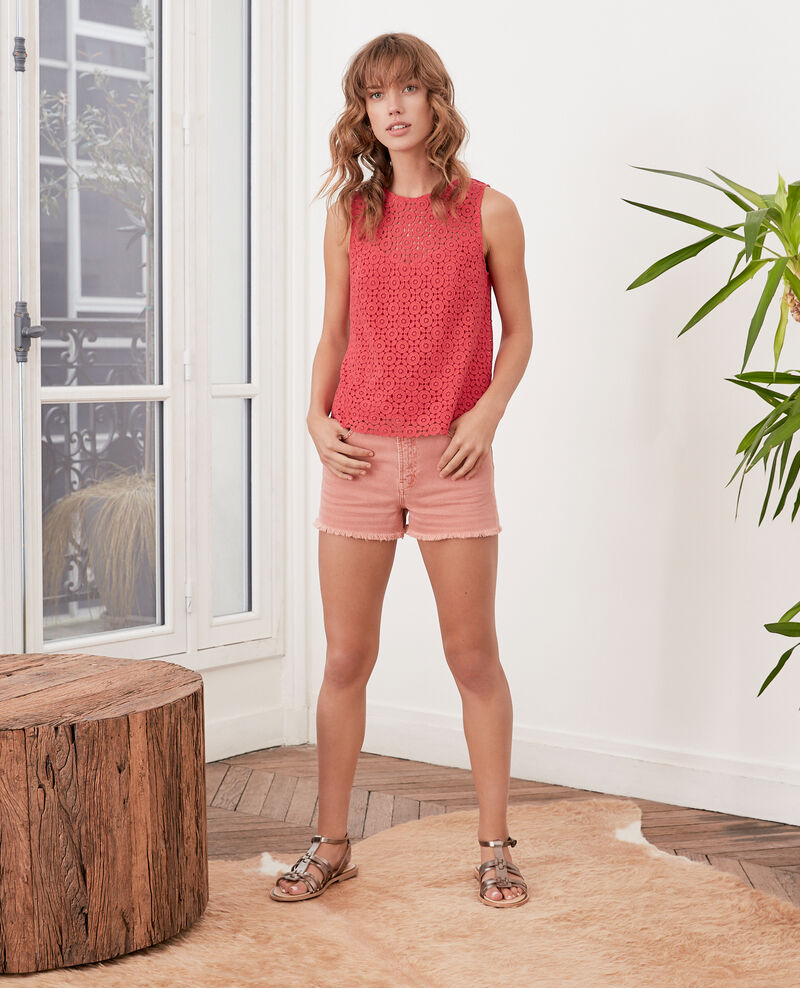 Top en broderie anglaise Ultra pink Foulouse