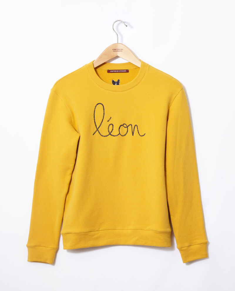 Sweatshirt brodé Léon Golden spice/peacoat Gleon