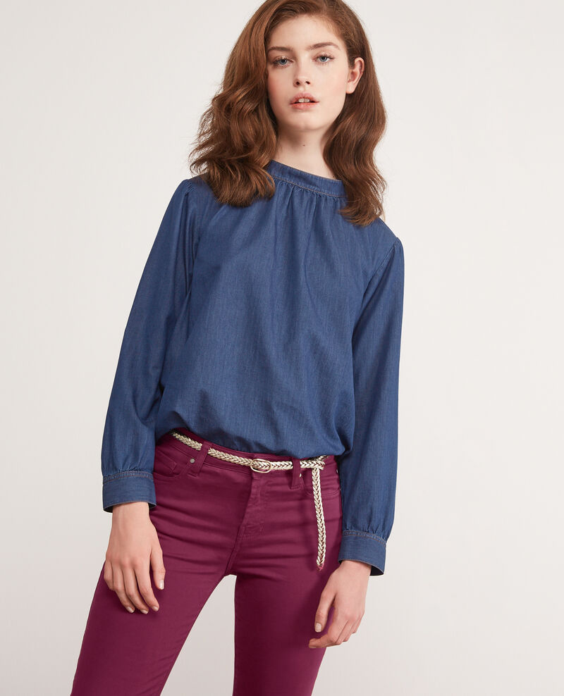 Blouse en denim LIGHT DENIM