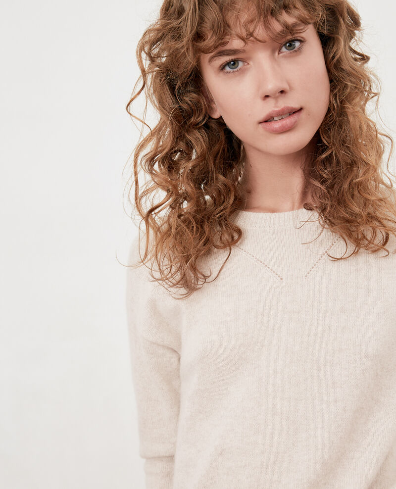 Pull en cachemire HEATHER CHALK