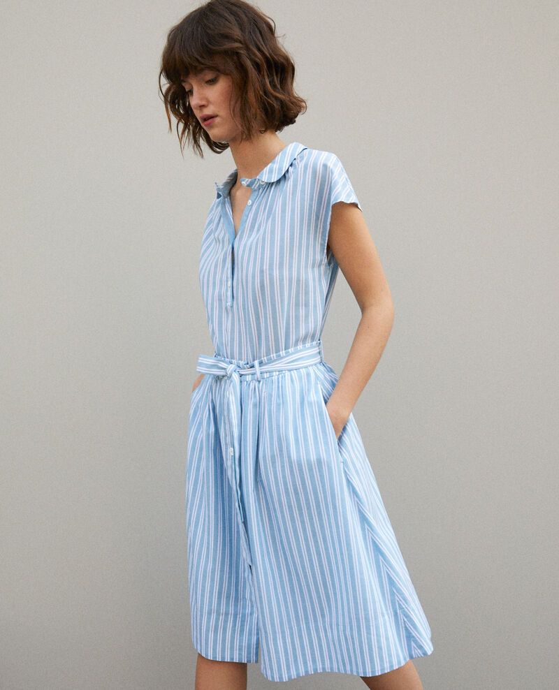 Jupe ceinturée ADRIATIC/OFF WHITE STRIPES