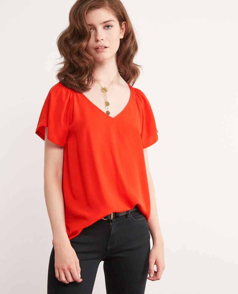 Blouse fluide ORANGE RED