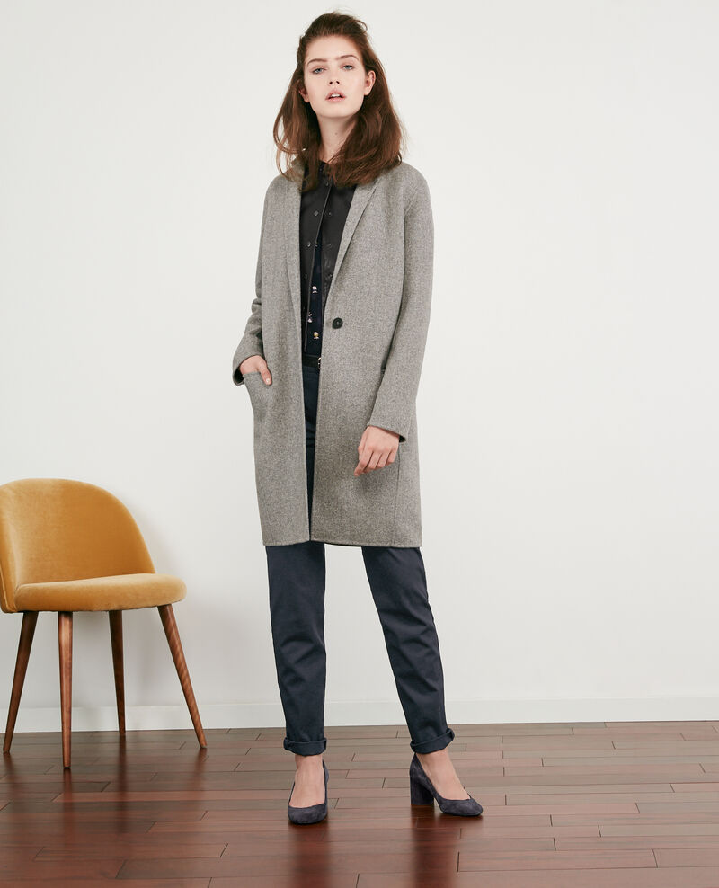 Manteau en laine double face Medium heather grey 9dexpresso