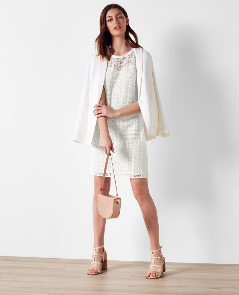 Robe en dentelle Off white Clematite