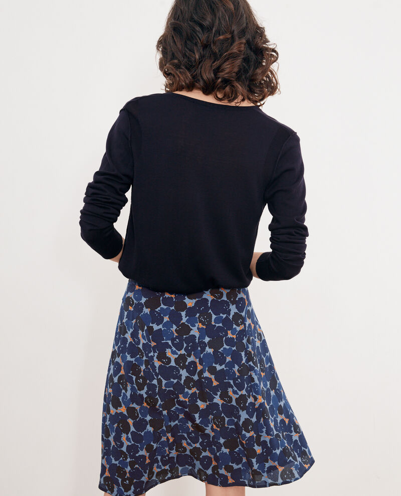 Pull avec soie Navy Froufrou