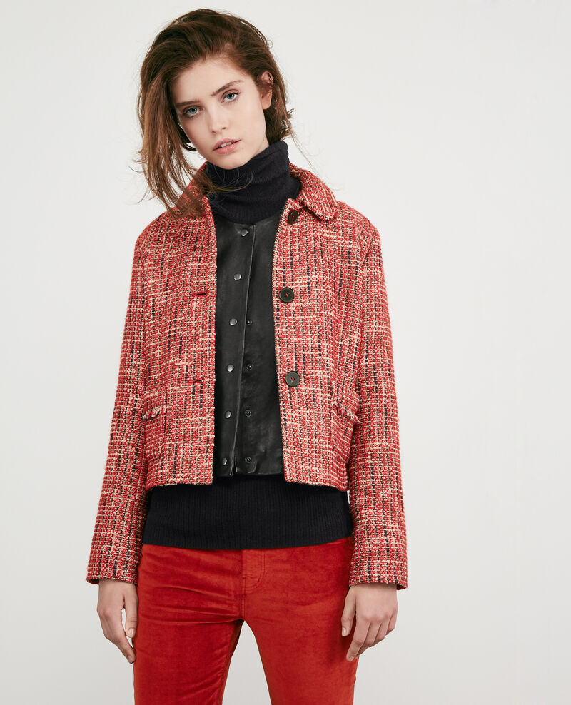 Veste en tweed Orange red Djimmy
