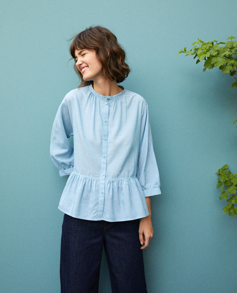 Blouse à basque ADRIATIC BLUE