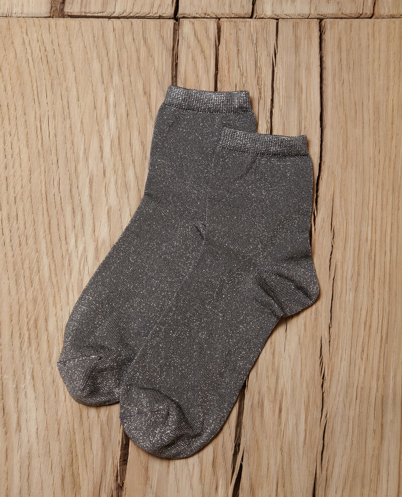 Chaussettes avec lurex MEDIUM HEATHER GREY
