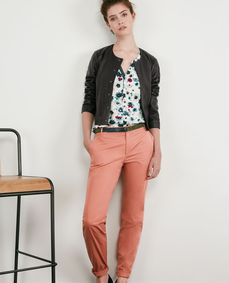 Pantalon chino ROSE CLAY