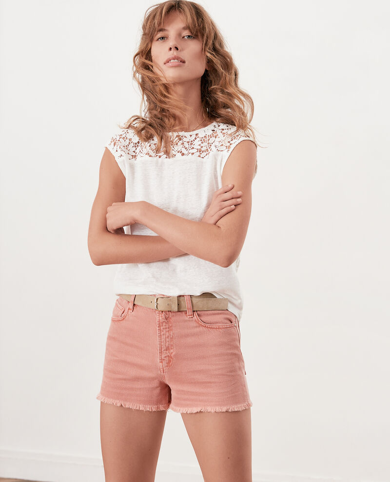 Short avec franges Faded rose Fintashort