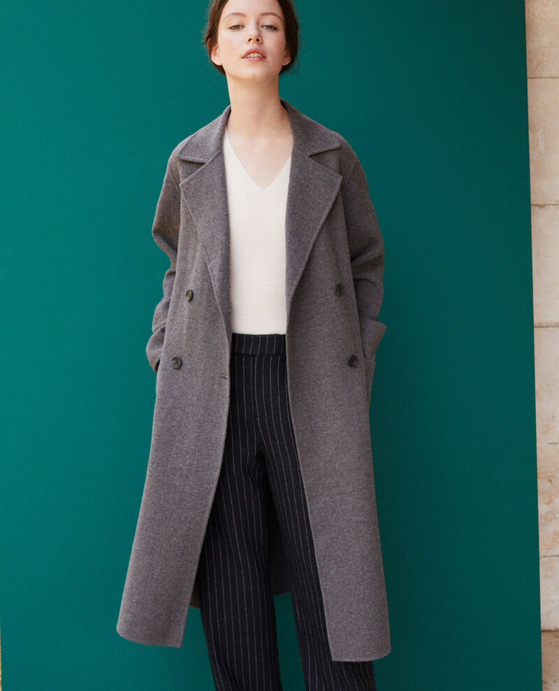 Manteau double face DARK HEATHER GREY