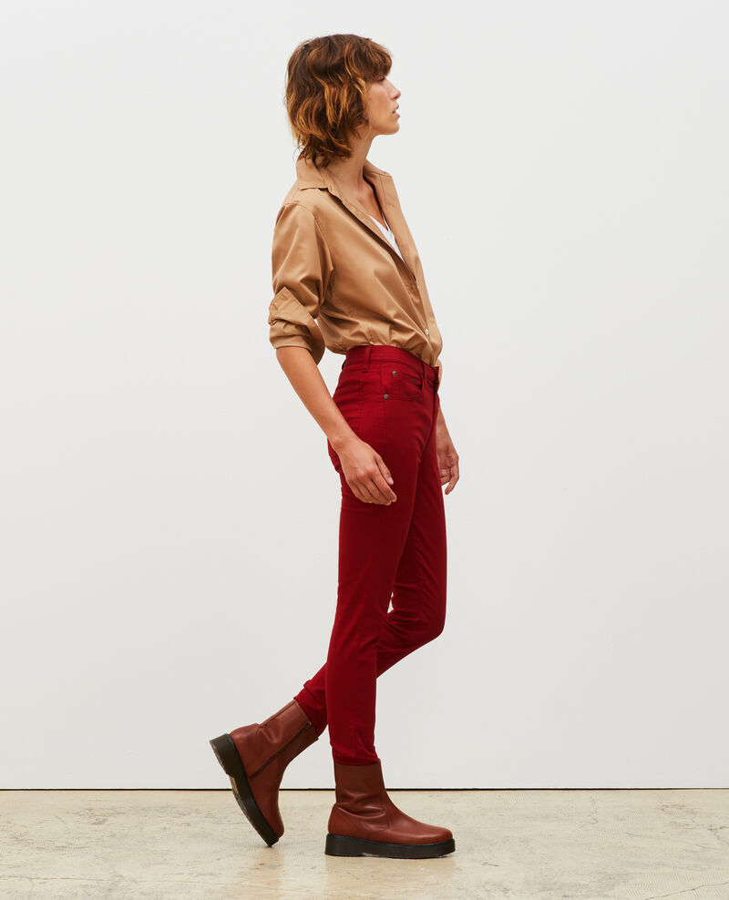 SKINNY - Jean 5 poches Royale red Mozakiny
