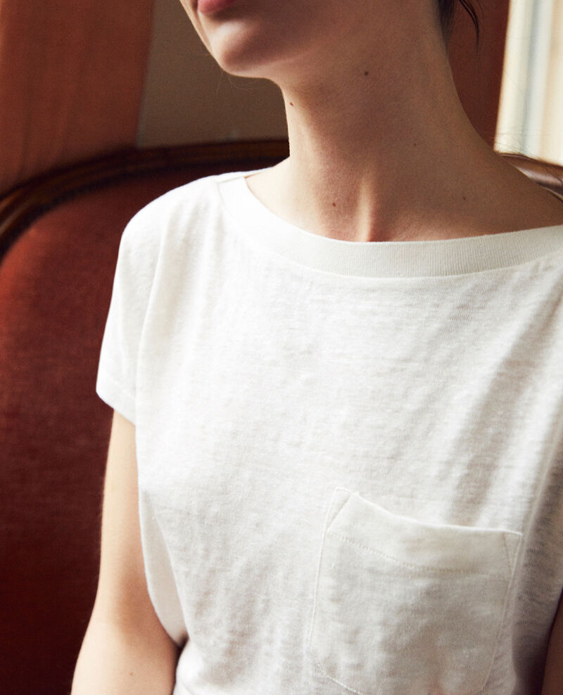 T-shirt col bateau Off white Jinolita