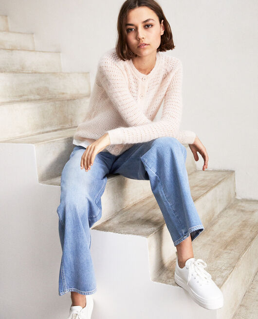 Cardigan avec du mohair LIGHT PINK
