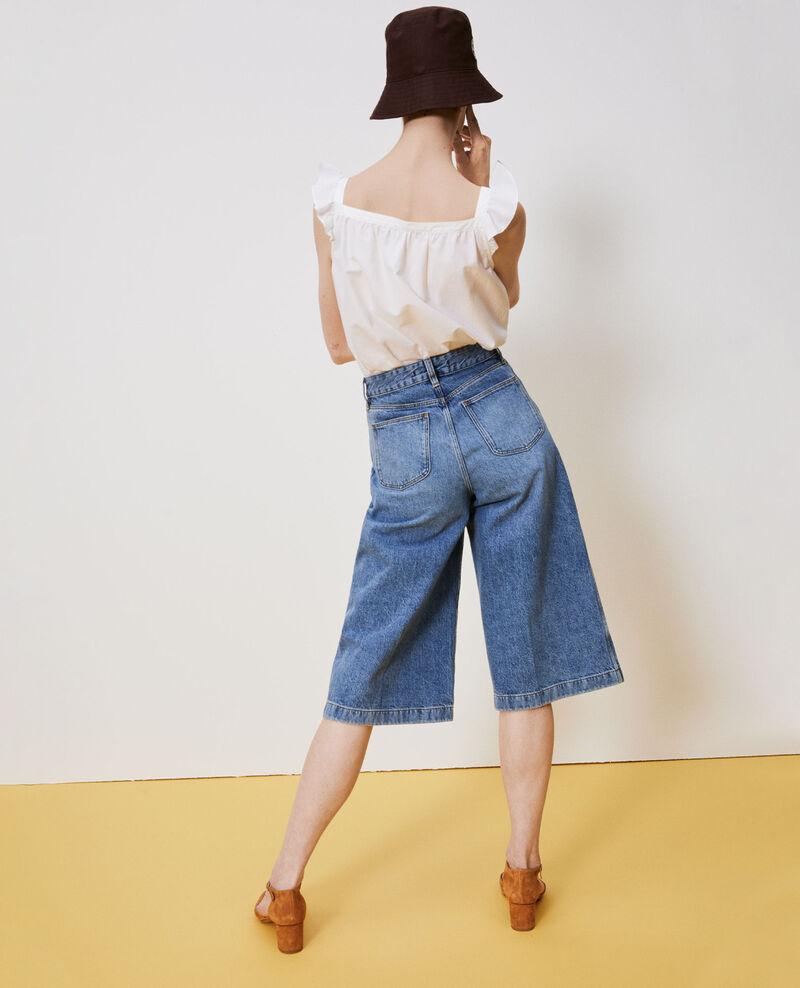 CULOTTE - Jupe-culotte en jean Vintage wash Nayage