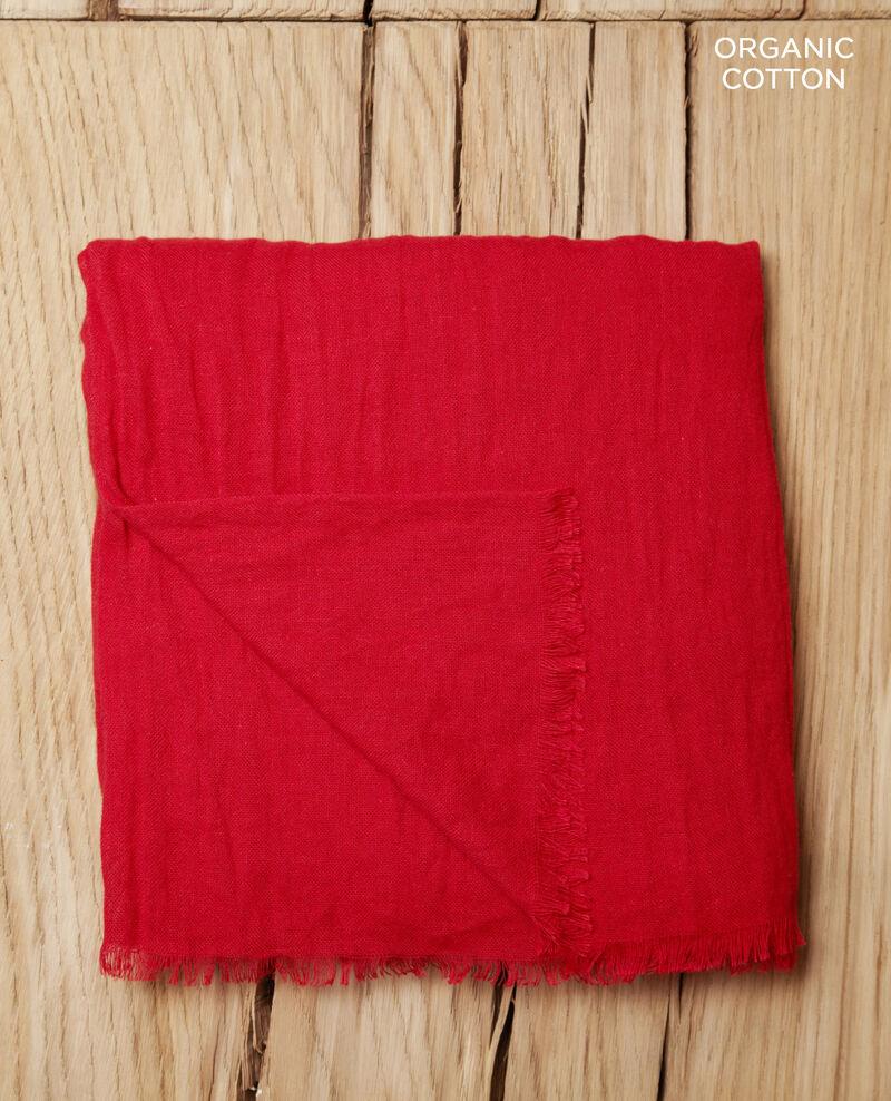 Foulard en coton organique Rouge Geste