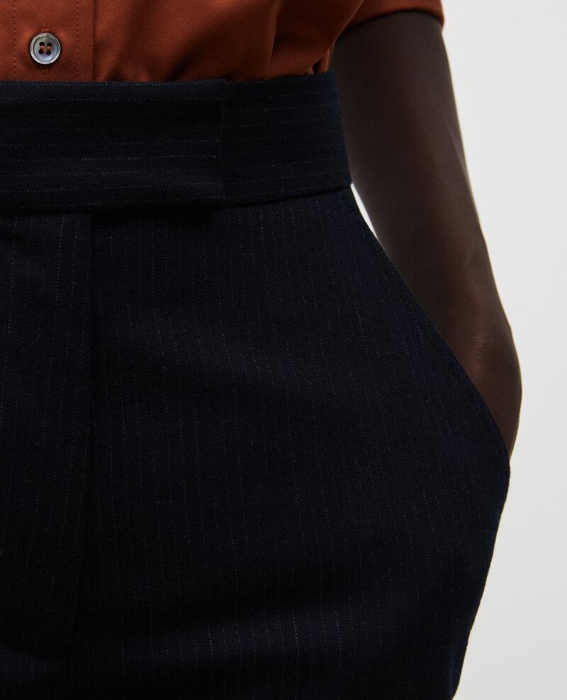 Pantalon de costume MARCELLE, droit en laine  Night sky Misabeau