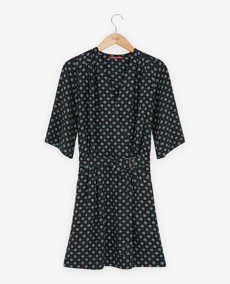 Robe imprimée avec boucle Dandelion black Faustine