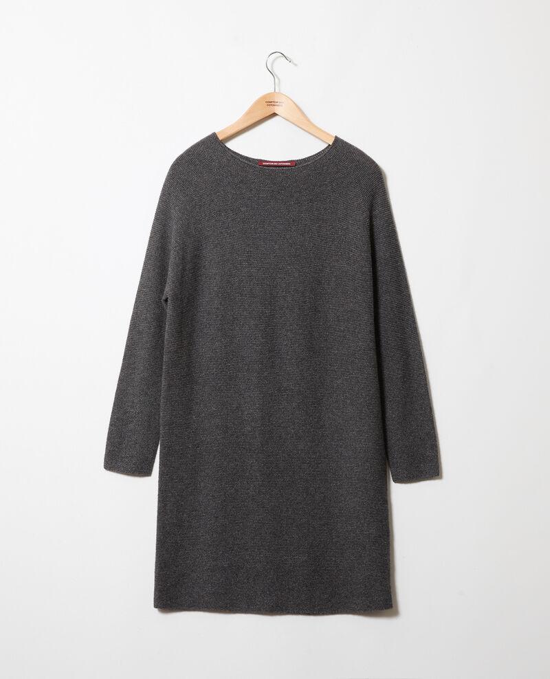 Robe pull 100% cachemire Dark grey Joceline