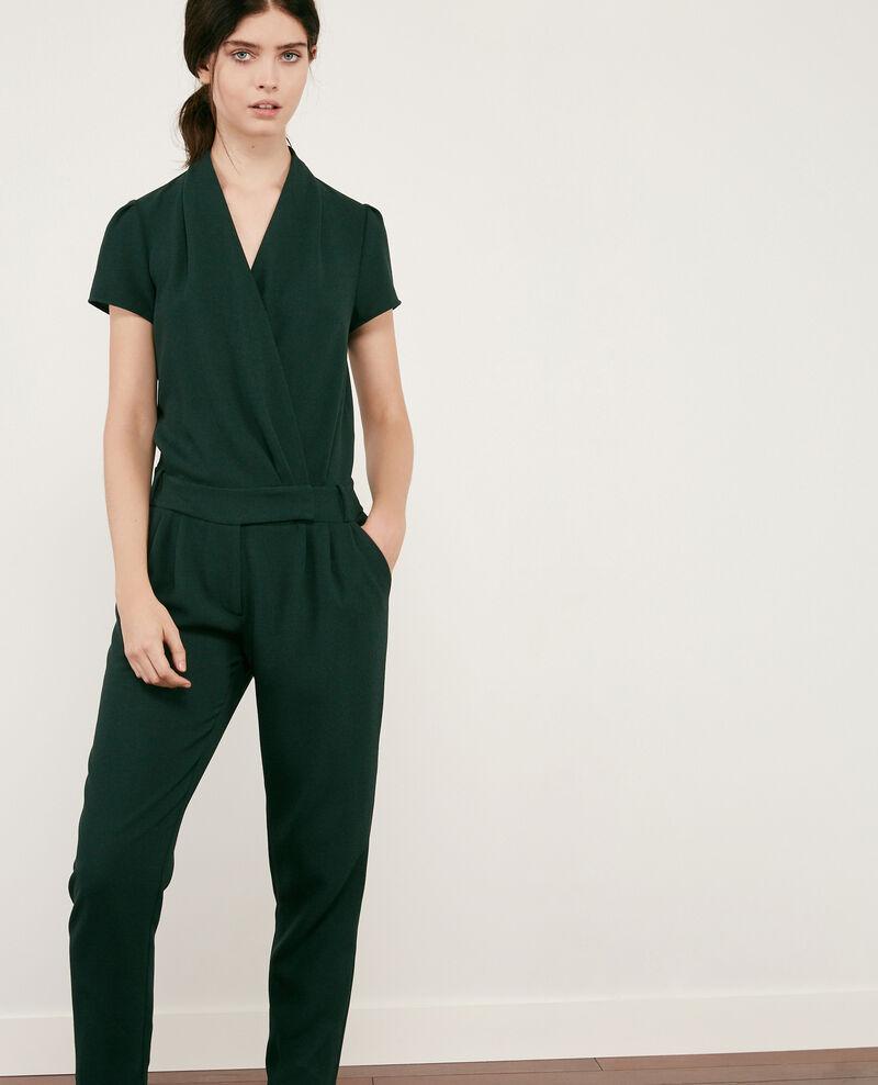 combinaison pantalon femme en cr pe couleur deep green cabalona comptoir des cotonniers. Black Bedroom Furniture Sets. Home Design Ideas